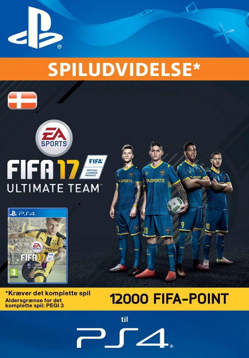 Pakke med 12000 FIFA 17 Points (DK)