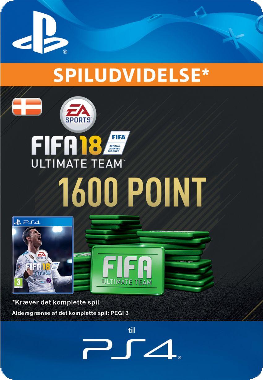 Pakke med 1600 FIFA 18 Points