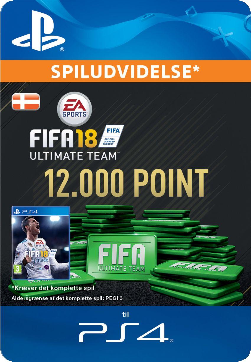 Pakke med 12000 FIFA 18 Points
