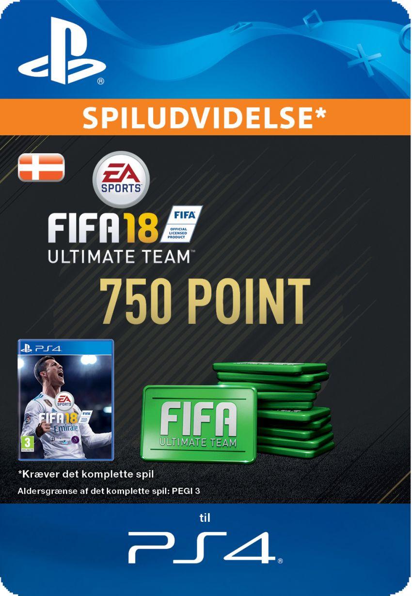 Pakke med 750 FIFA 18 Point