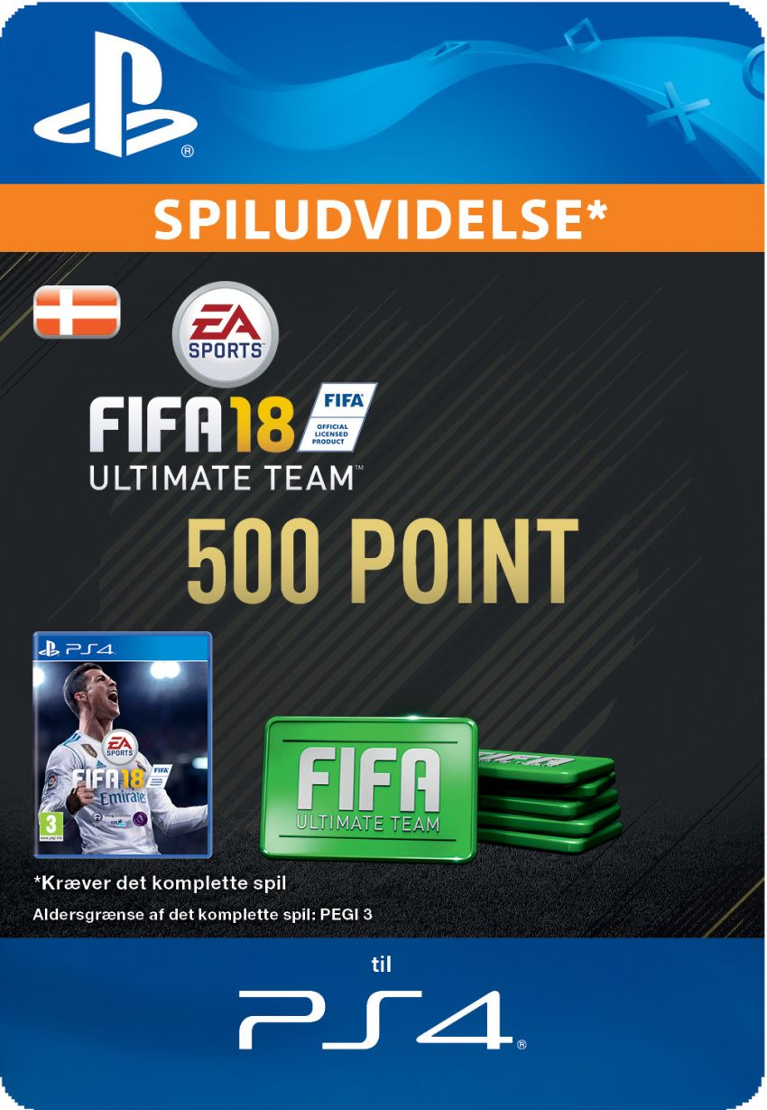 Pakke med 500 FIFA 18 Point