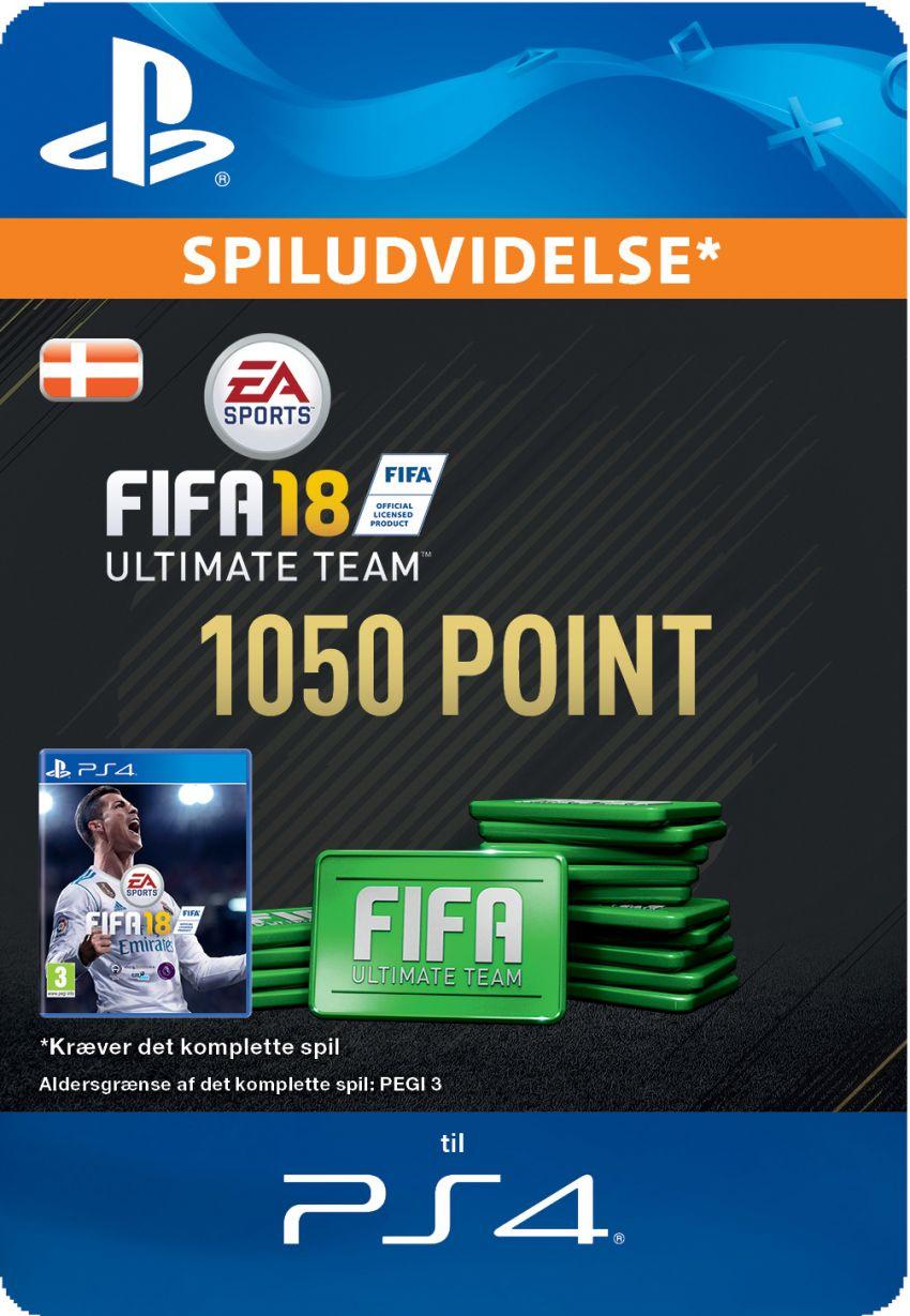 Pakke med 1050 FIFA 18 Point