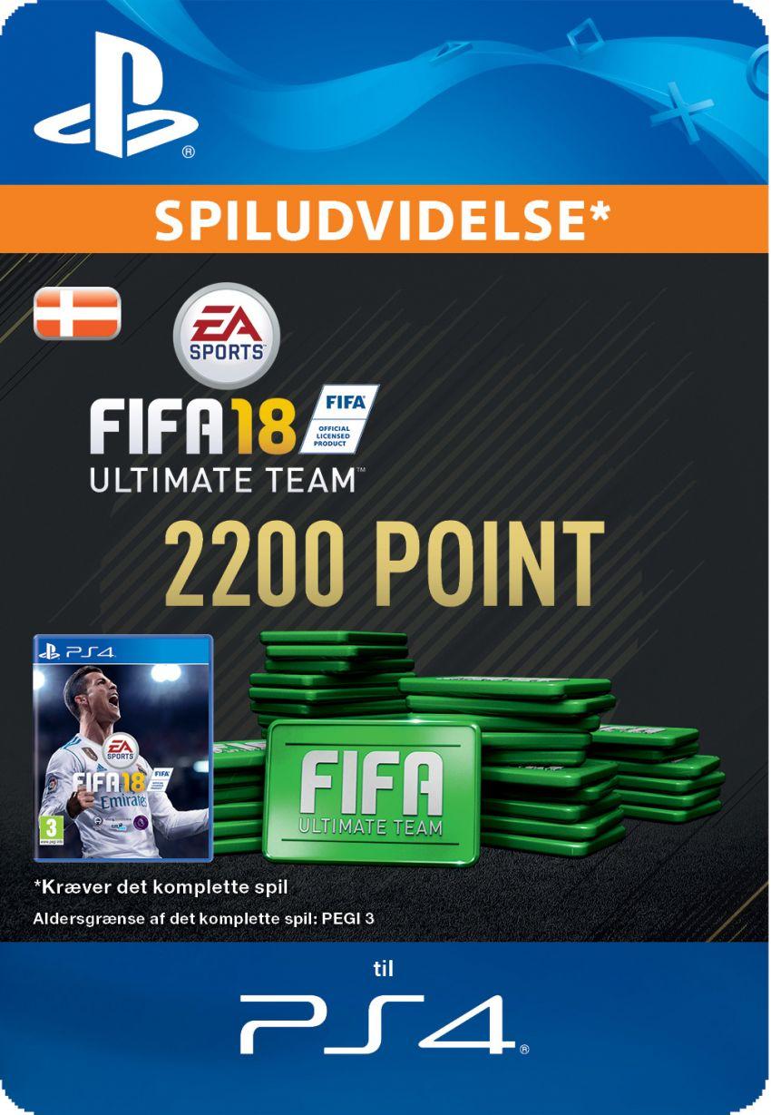 Pakke med 2200 FIFA 18 Point